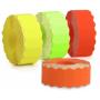 Étiquettes 22x12mm Fluo Orange : UNIVERSELLE