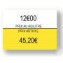 Étiquette Blanche 1136 prix/kg/L