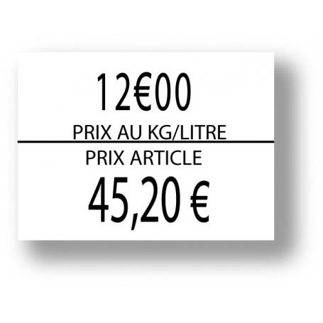 copy of Étiquette Blanche 1136 prix/kg/L