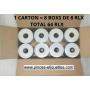 Étiquettes Personnalisée 2 lignes 20X16mm Compatibles Etiqueteuse 1136 Avery Dennison Paxar Monarch