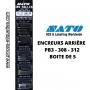 Rouleaux Encreurs ARRIÈRE SATO : Etiqueteuses PB 3 208 -312  boite de 5 Tampons