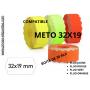 Etiquettes 32x19 permanentes couleurs