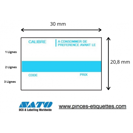 Etiquettes OEUF : A CONSOMMER DE PREFERENCE AVANT - CALIBRE - PRIX - CODE : Étiqueteuse Sato PB 3-208