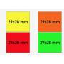 Étiquettes 29X28 mm FLUO 3 lignes Universelle Meto