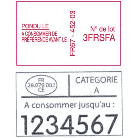 Étiquettes 32X19 Personnalisée 2 lignes