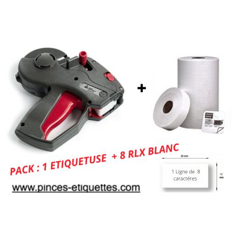 PACK DÉCOLLABLE  : 8 RLX Étiquettes adhésif enlevable Blanche + Étiqueteuse 1131 AVERY 20x11mm