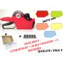 PACK 26X12 : 36 RLX ETIQUETTES COULEURS + 1 Etiqueteuse 26x12 mm