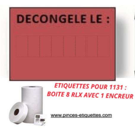 """Étiquettes """"DATE DE DÉCONGÉLATION"""" Compatible Étiqueteuse 1131 AVERY 20X11MM"""