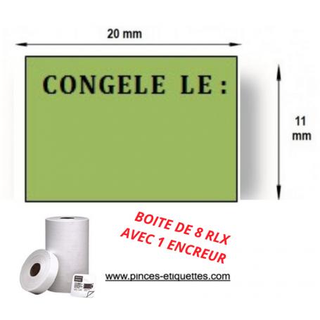 """Étiquettes """"DATE DE CONGÉLATION"""" Compatible Étiqueteuse 1131 AVERY 20X11MM"""