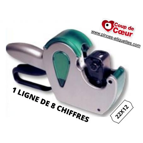 COUP DE COEUR : Etiqueteuse 22x12 mm 1 ligne 8 chiffres