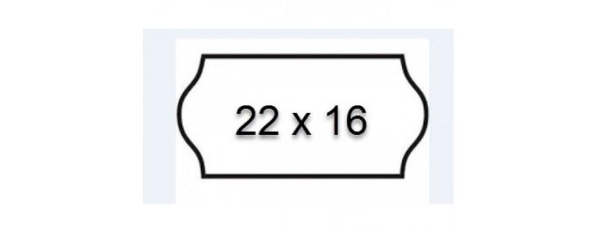 Etiquettes Meto 22x16 mm