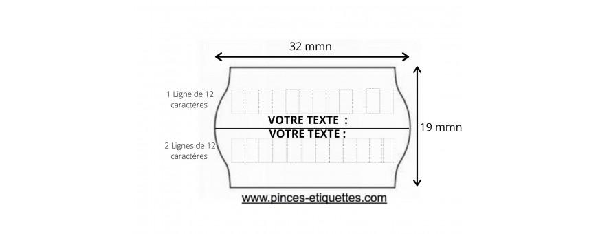 Les Etiquettes Format 32X19 mm pour étiqueteuse Meto Tovel Printex METO TOVEL PRINTEX OPEN