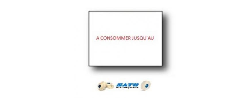 Les Etiquettes Format 18X16 mm pour étiqueteuse DUO 16 SATO     2 lignes de 8 caractères permettent un double étiquetages.