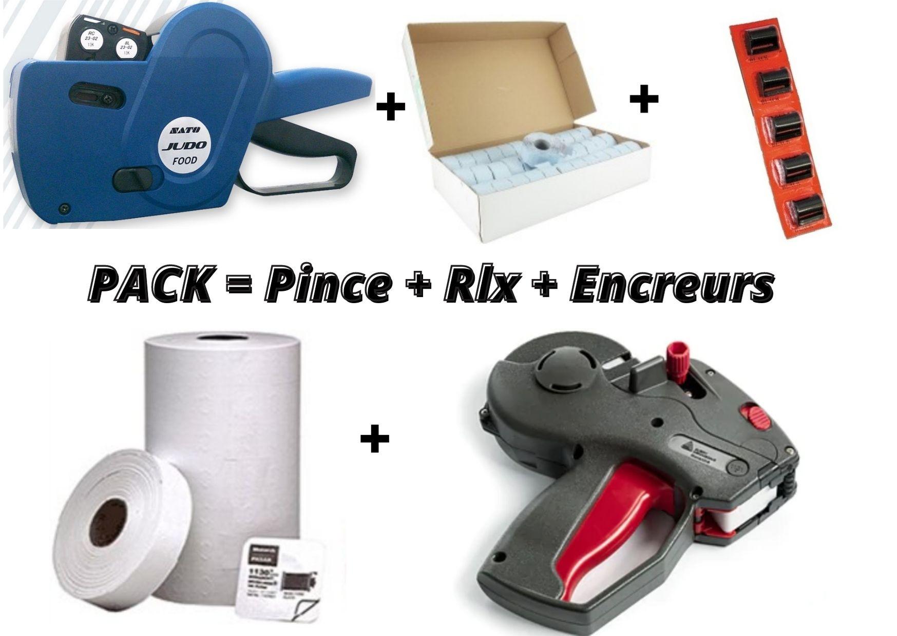 LES PACKS COMPLETS : Pince + Etiquettes + Encreurs