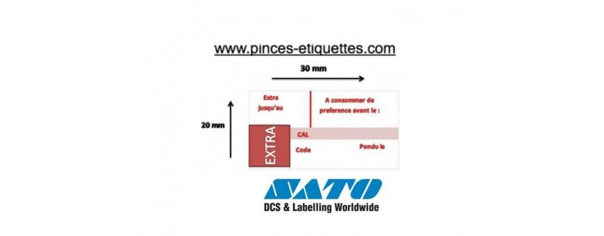 Etiquette PB3 SATO 208 Etiquettes producteur oeuf Etiquettes Pondu le Etiquettes Extra