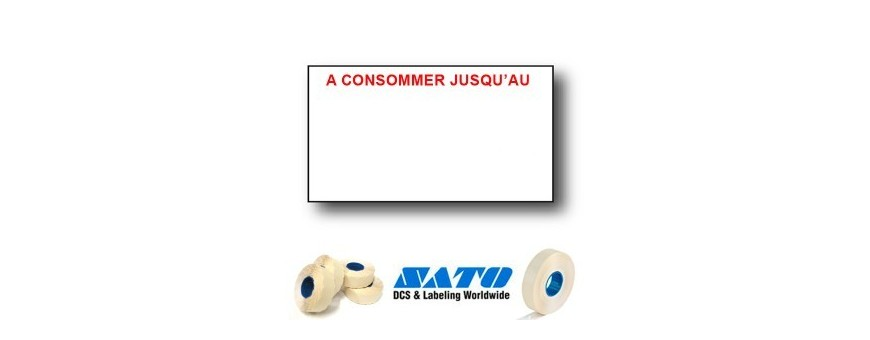 Étiquettes 18x10 MM pour Étiqueteuse Sato PB-1