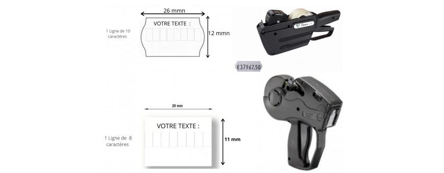 Etiqueteuses Prix Pistolet d'étiquetage Pince étiqueter 1 ligne Date Pistolet étiquette Format 22X12 26X12 20X11 Dateur SATO AVERY DENNISON Etiqueteuse METO