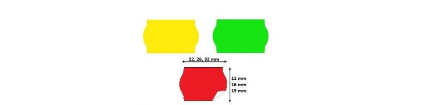 Etiquettes METO Etiquettes pour etiqueteuse TOVEL Etiqueteuse Printex Etiquettes METO 22X12 Meto 26X12 METO 32X19 METO 29X28